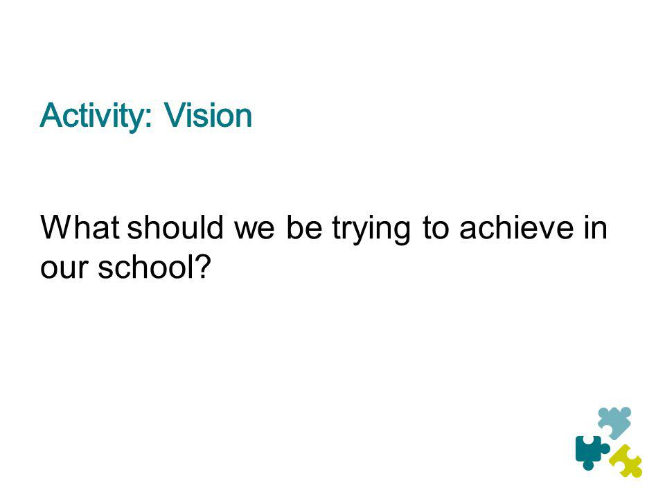 What should we be trying to achieve in our school