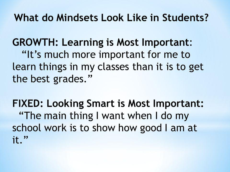 GROWTH: Learning is Most Important: