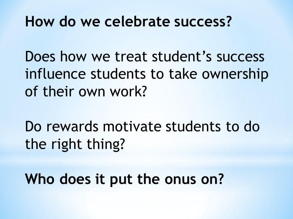 How do we celebrate success