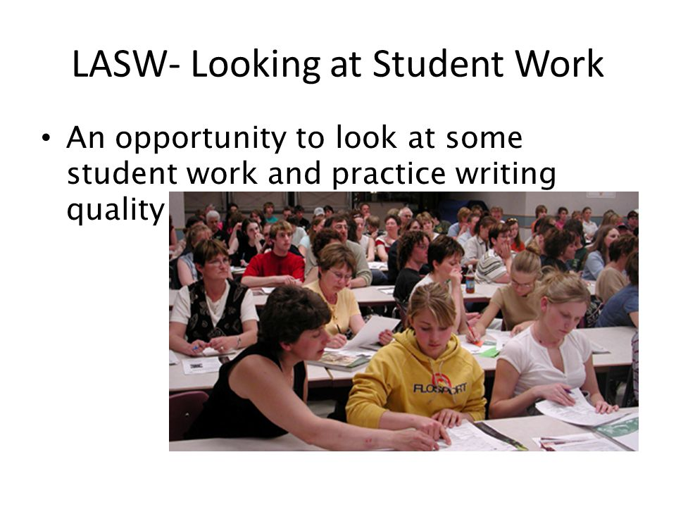 LASW- Looking at Student Work