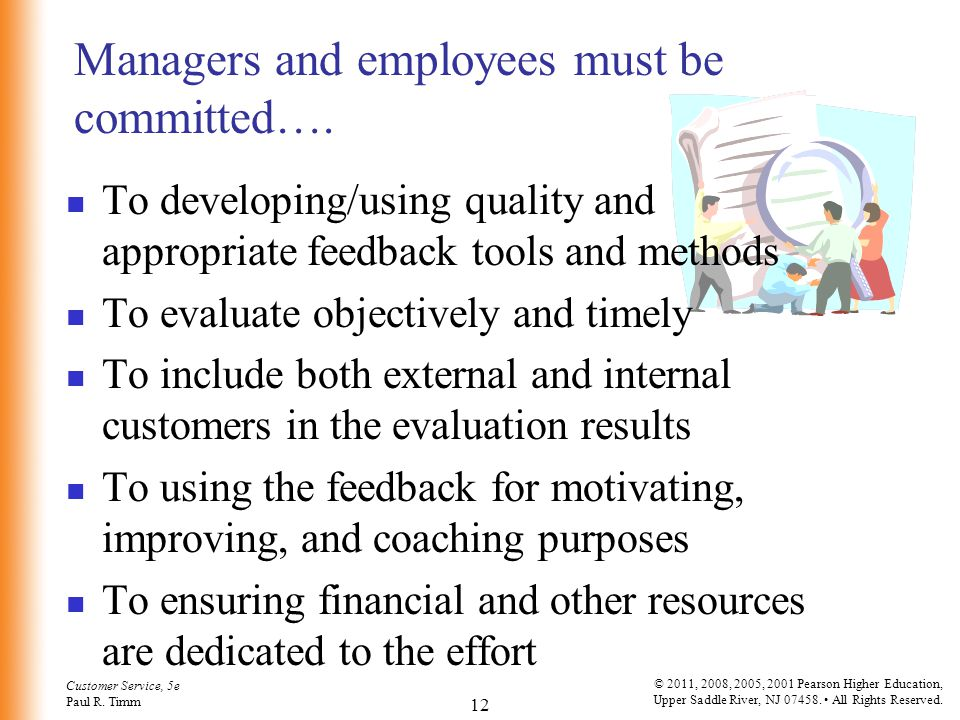 Managers and employees must be committed….