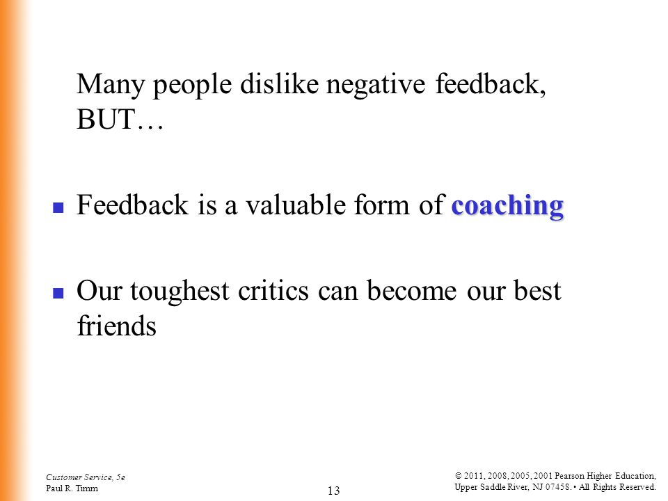 Feedback is a valuable form of coaching