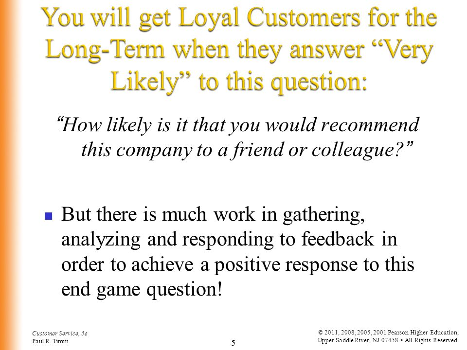 You will get Loyal Customers for the Long-Term when they answer Very Likely to this question: