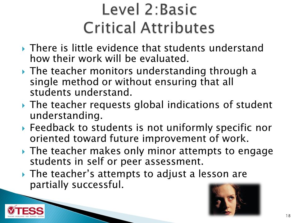 Level 2:Basic Critical Attributes