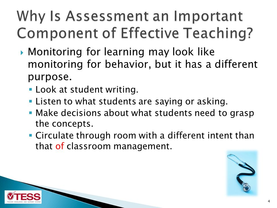 Why Is Assessment an Important Component of Effective Teaching