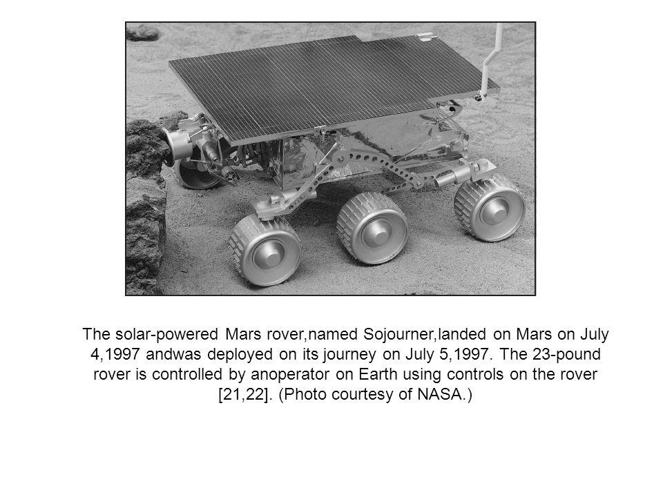 The solar-powered Mars rover,named Sojourner,landed on Mars on July 4,1997 andwas deployed on its journey on July 5,1997.