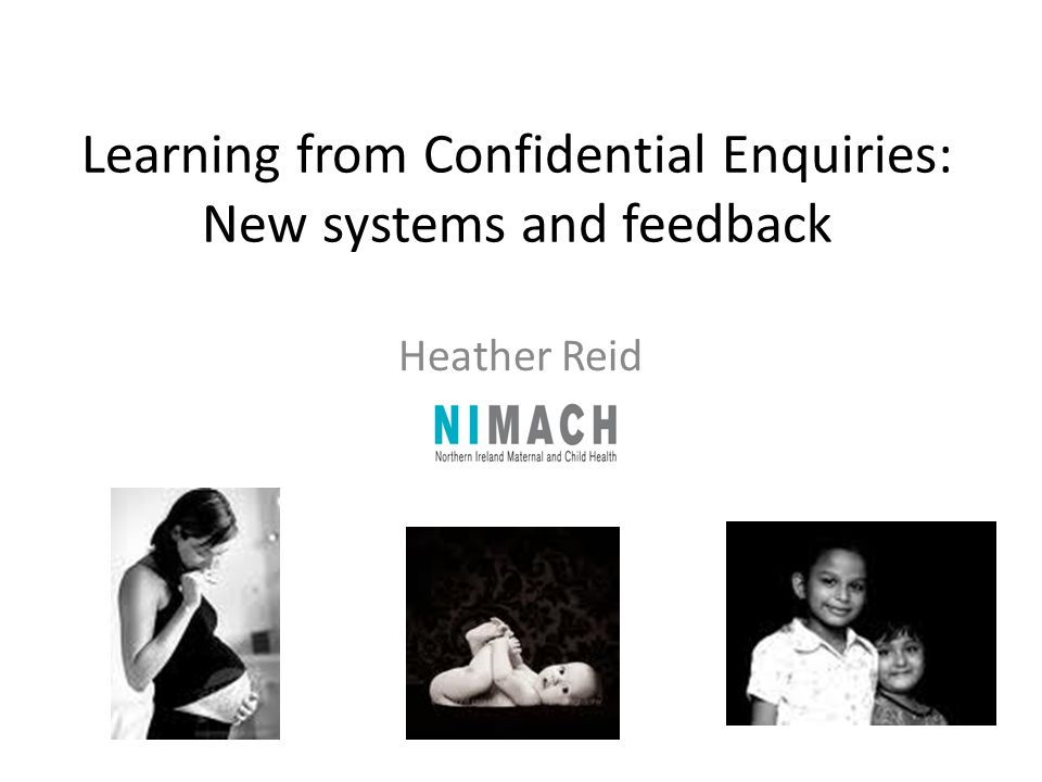 Learning from Confidential Enquiries: New systems and feedback