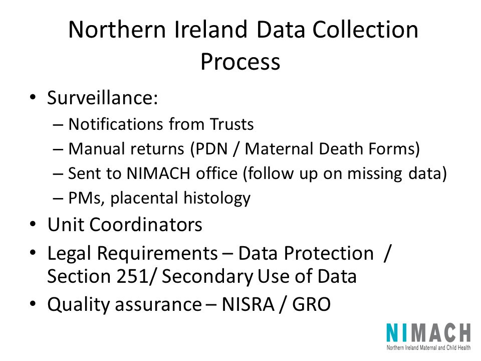 Northern Ireland Data Collection Process