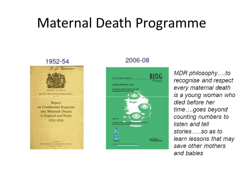 Maternal Death Programme