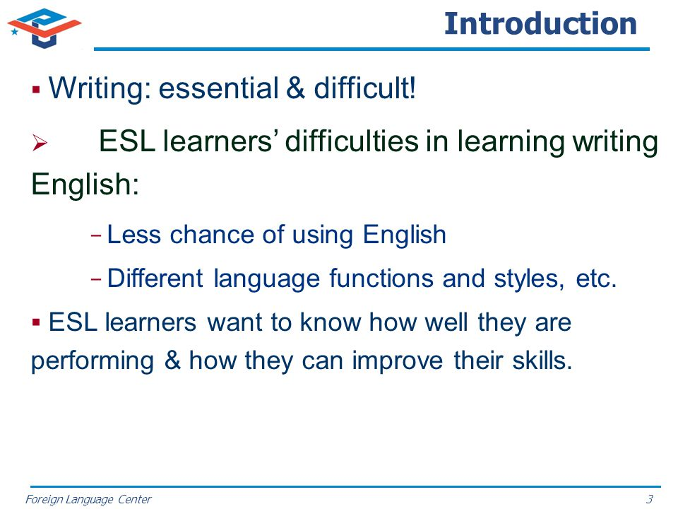 Introduction Writing: essential & difficult!
