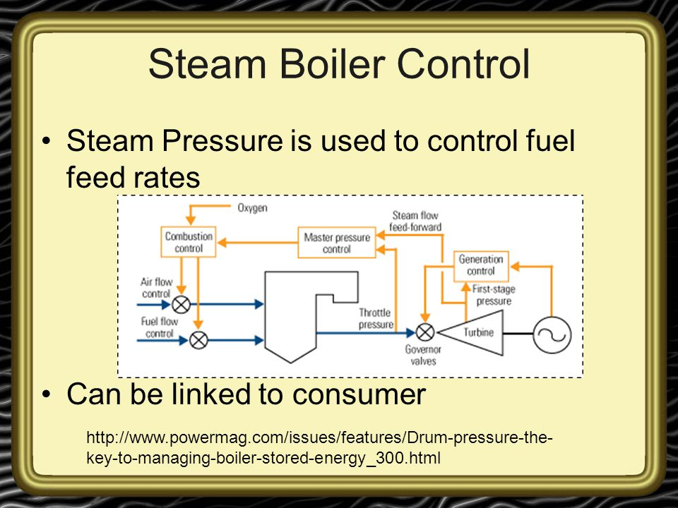 Steam Boiler Control Steam Pressure is used to control fuel feed rates