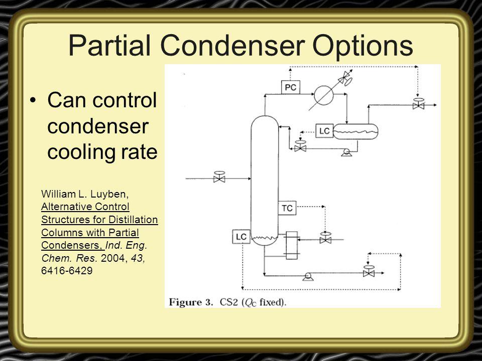 Partial Condenser Options