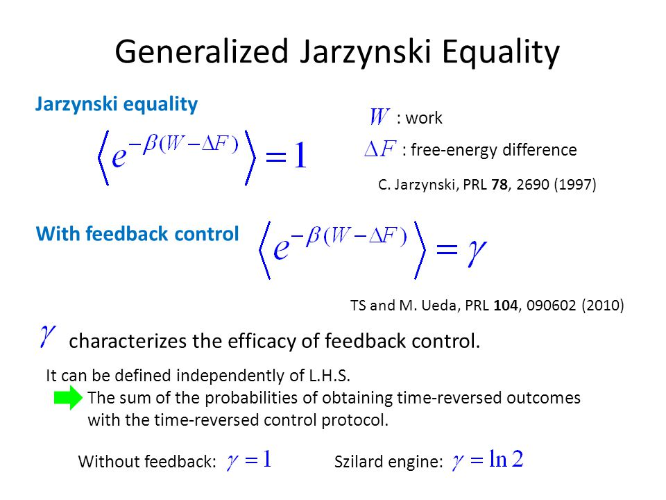 Generalized Jarzynski Equality