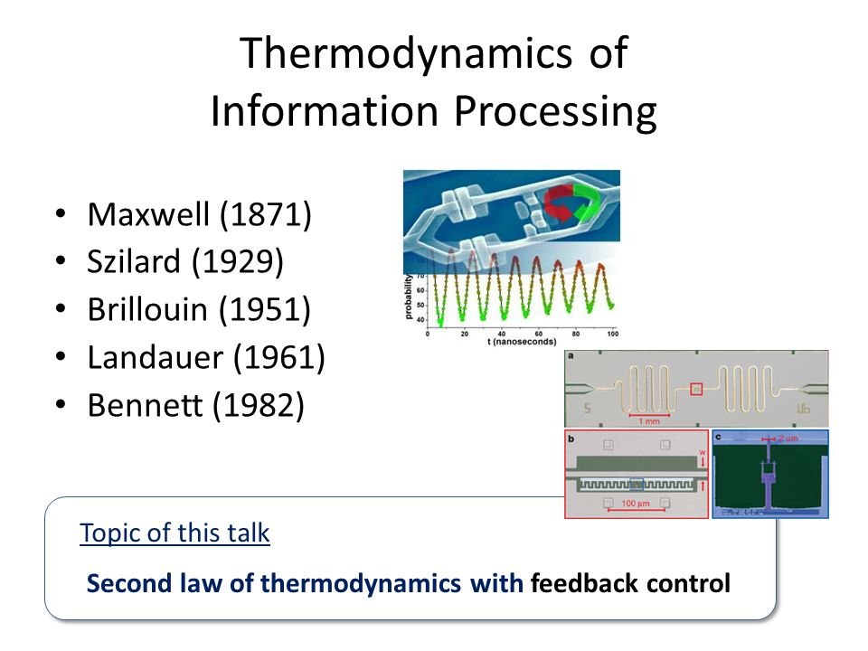 Thermodynamics of Information Processing