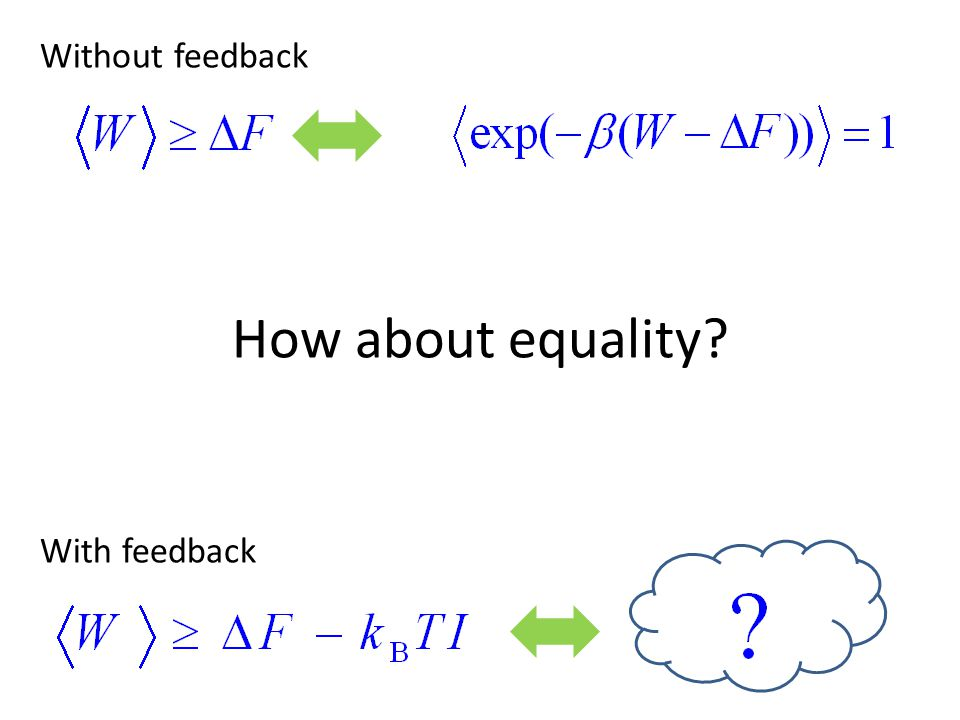 Without feedback How about equality With feedback