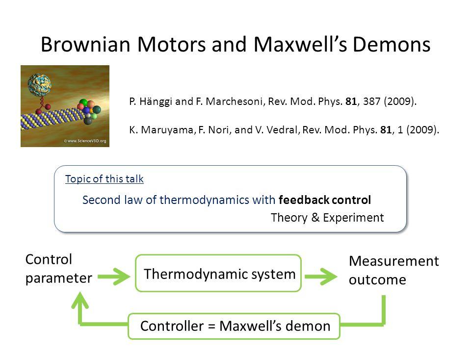 Brownian Motors and Maxwell's Demons