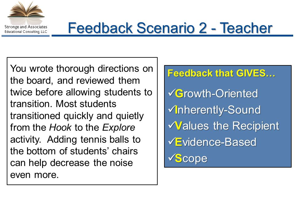 Feedback Scenario 2 - Teacher