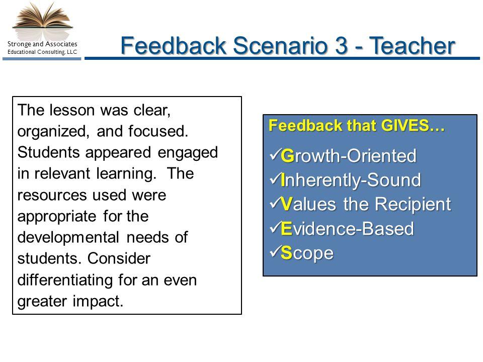 Feedback Scenario 3 - Teacher