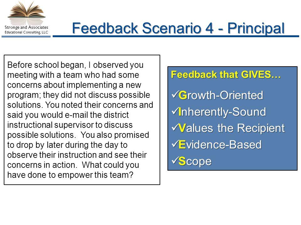 Feedback Scenario 4 - Principal