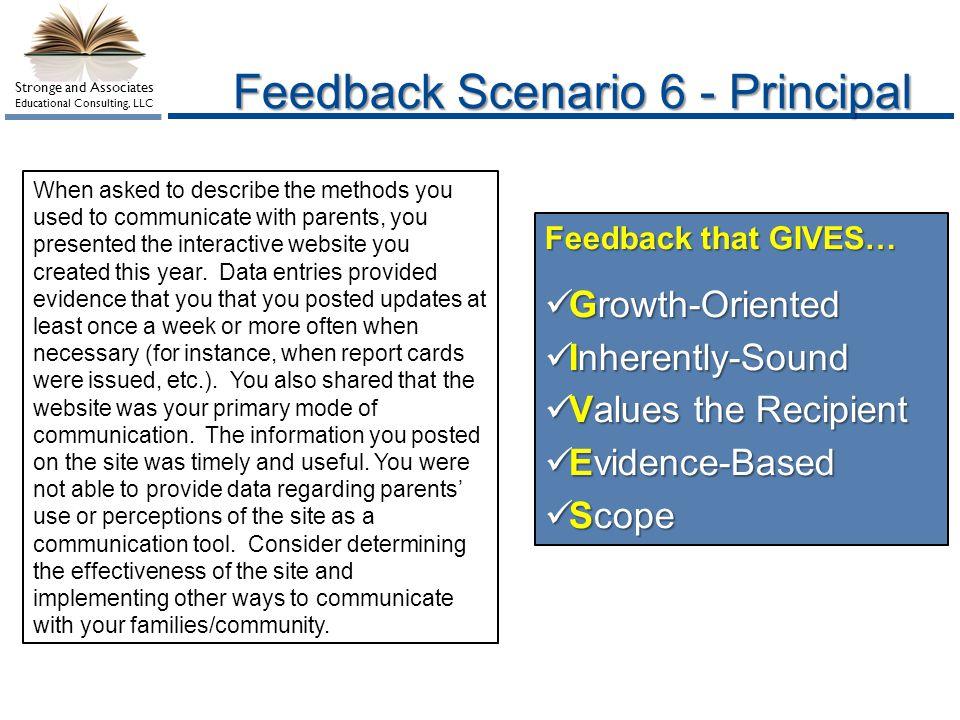 Feedback Scenario 6 - Principal