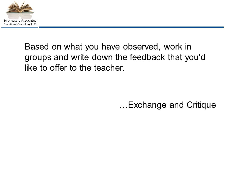 …Exchange and Critique