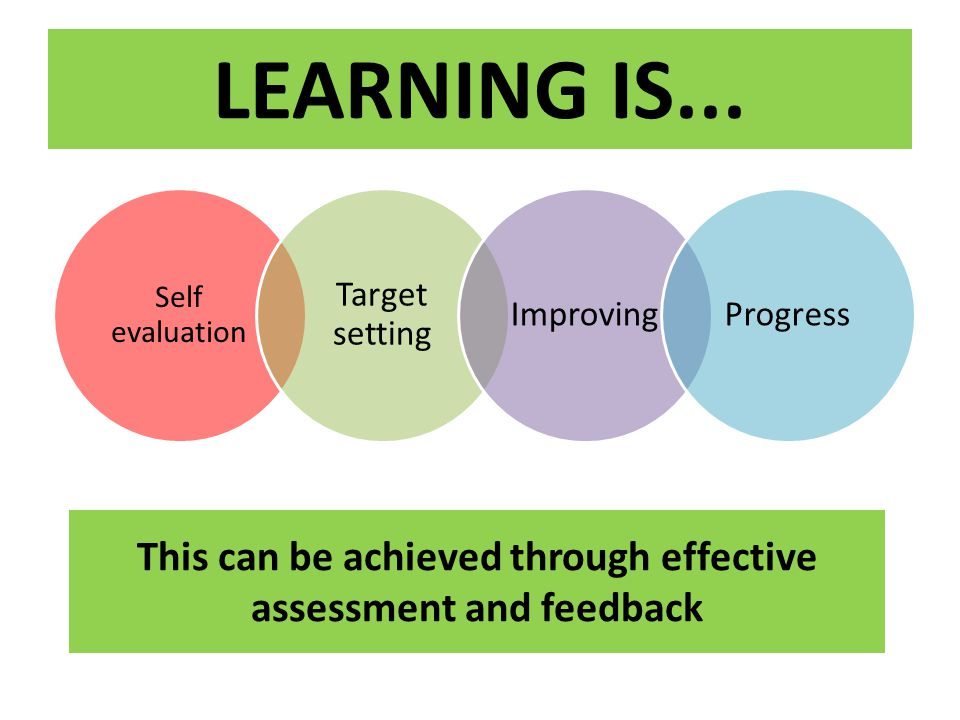 This can be achieved through effective assessment and feedback