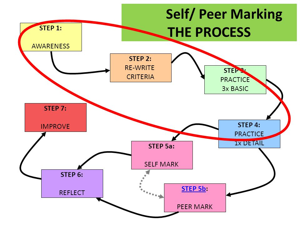 Self/ Peer Marking THE PROCESS