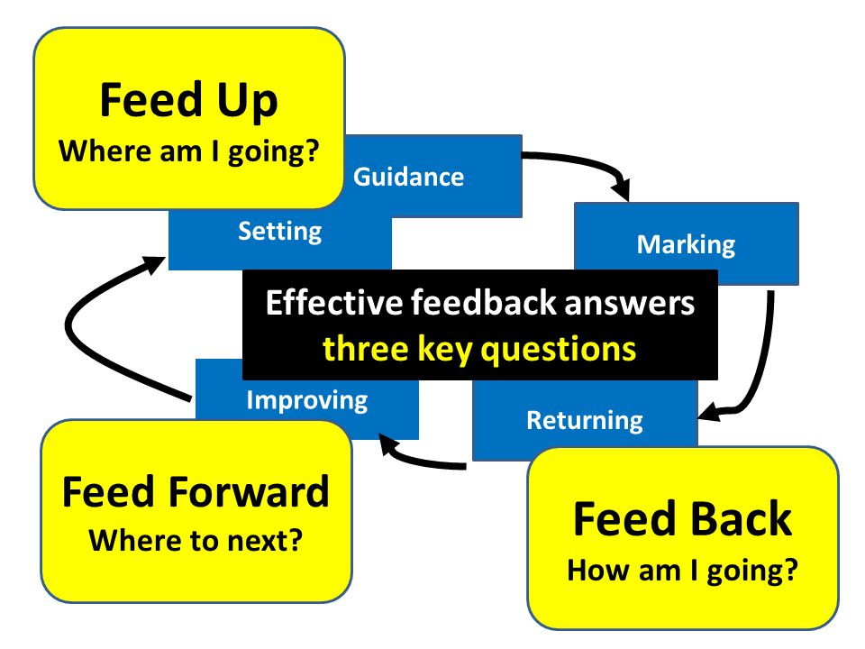 Effective feedback answers three key questions