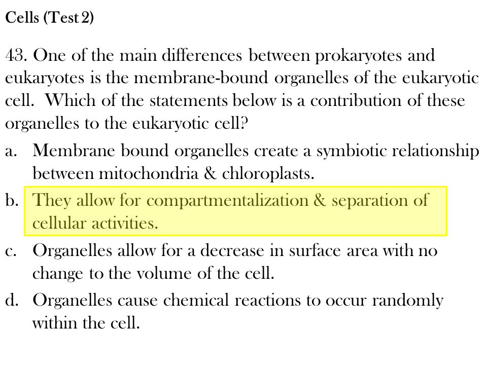 Organelles cause chemical reactions to occur randomly within the cell.