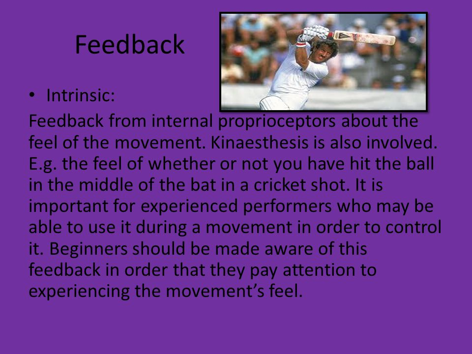 Feedback Intrinsic: