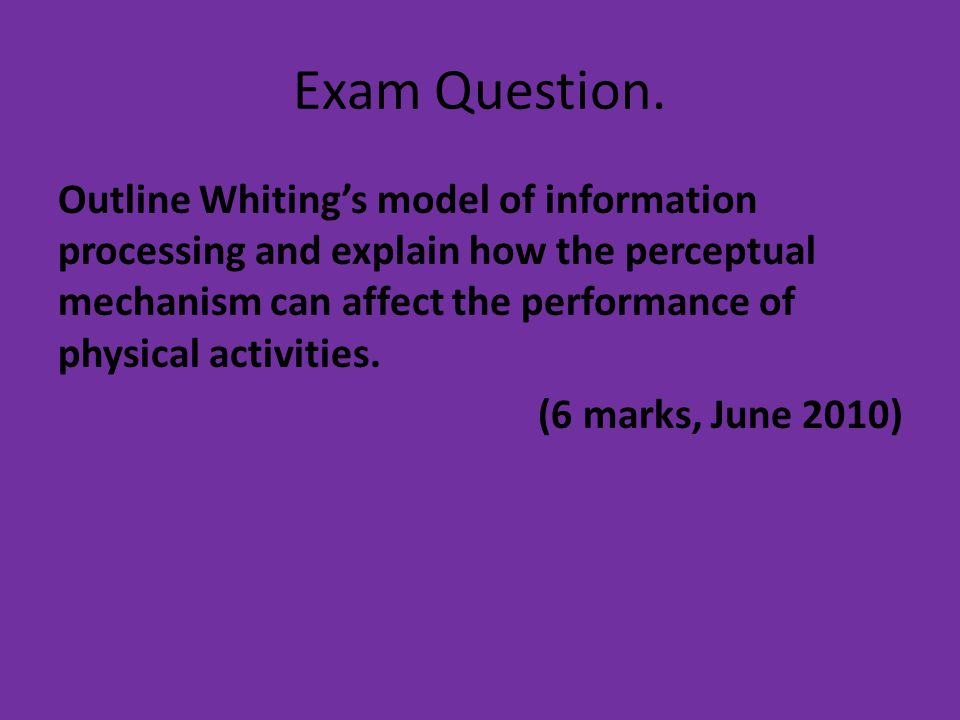 Exam Question.