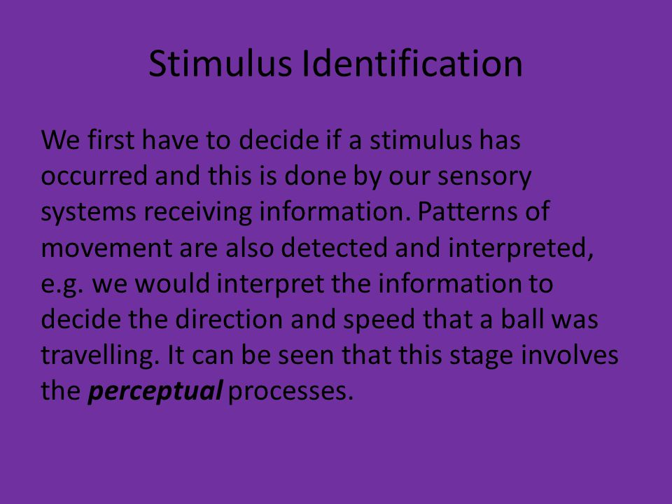Stimulus Identification
