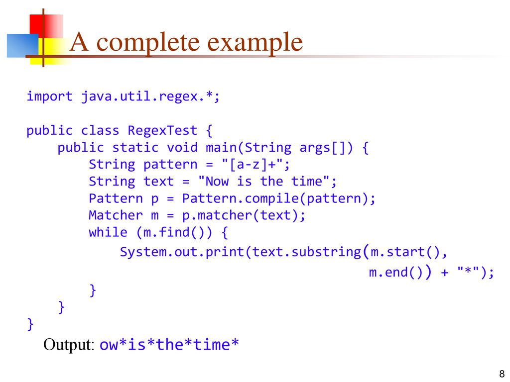 Regular Expressions In Java Ppt Download