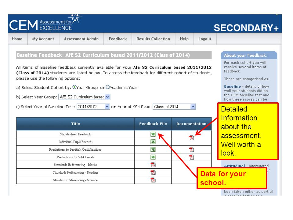 Detailed Information about the assessment. Well worth a look.