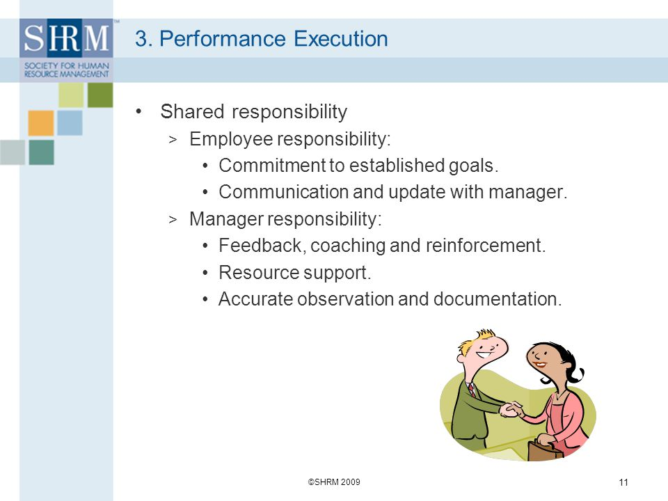 3. Performance Execution