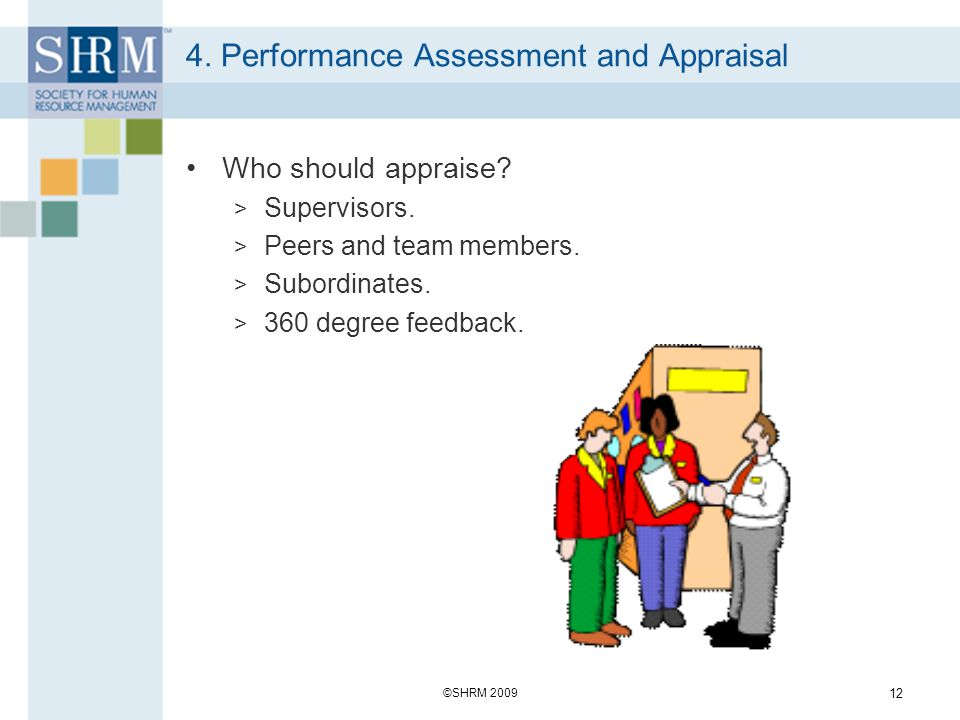 4. Performance Assessment and Appraisal
