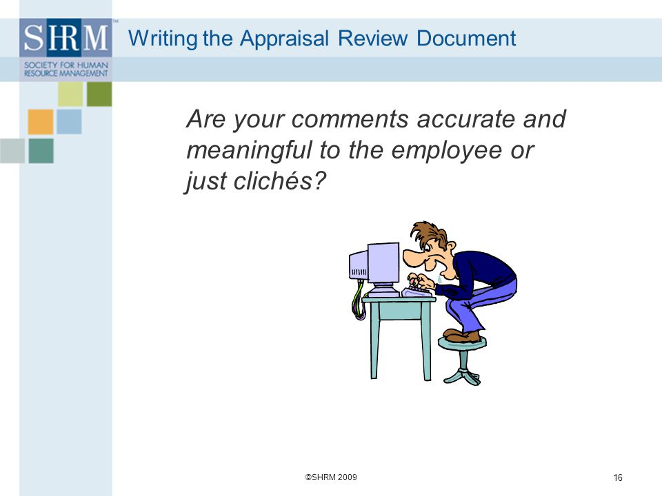 Writing the Appraisal Review Document