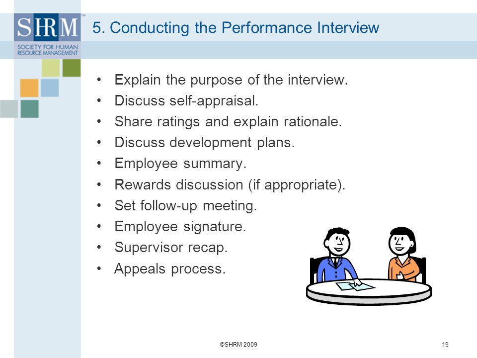 5. Conducting the Performance Interview