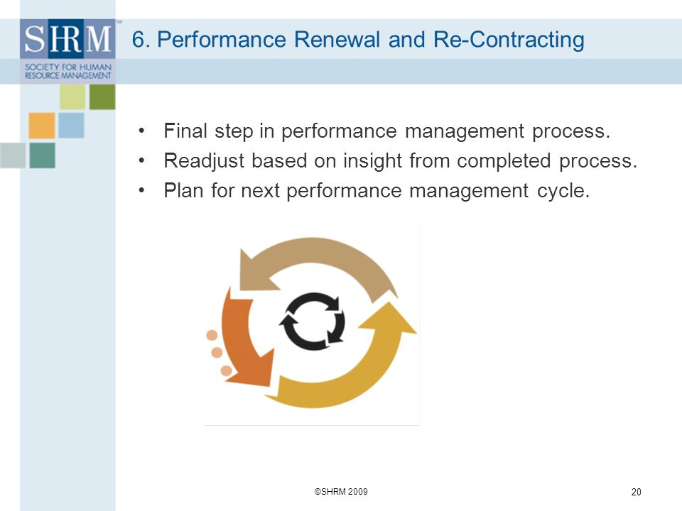 6. Performance Renewal and Re-Contracting
