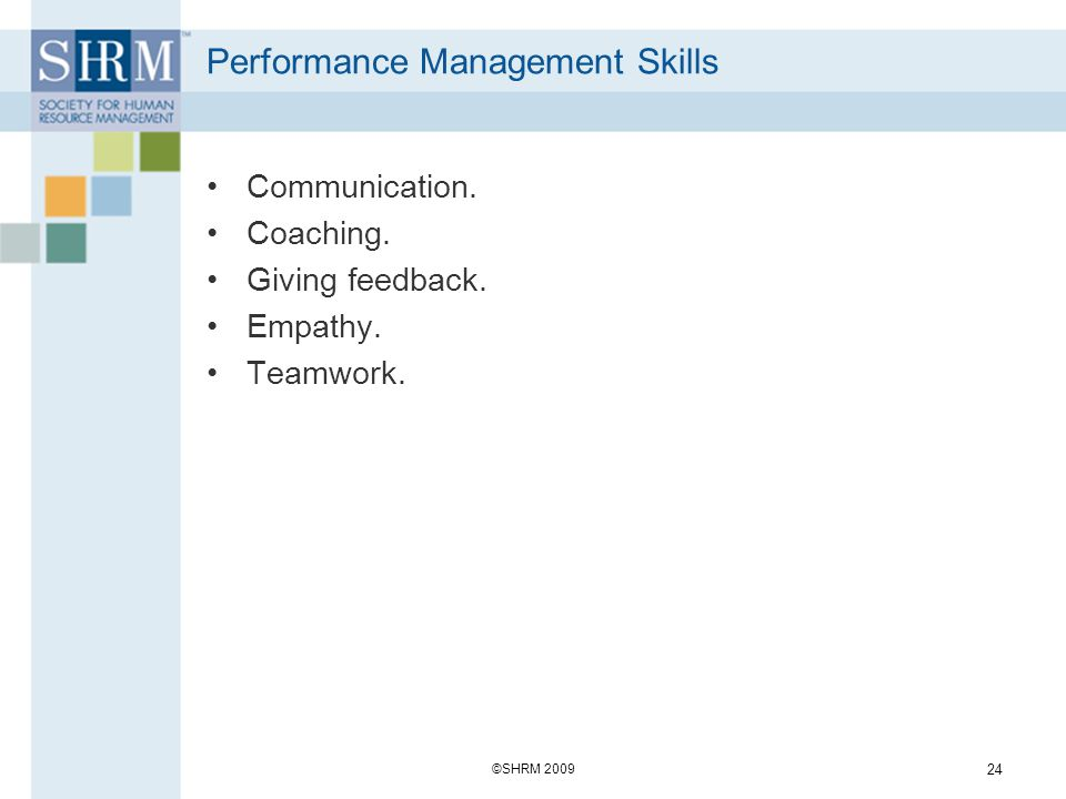 Performance Management Skills