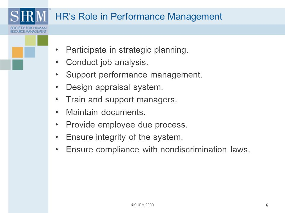 HR's Role in Performance Management