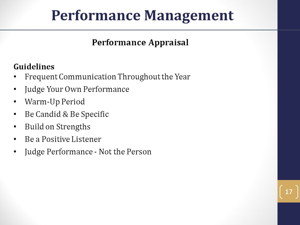 Performance Management Performance Appraisal