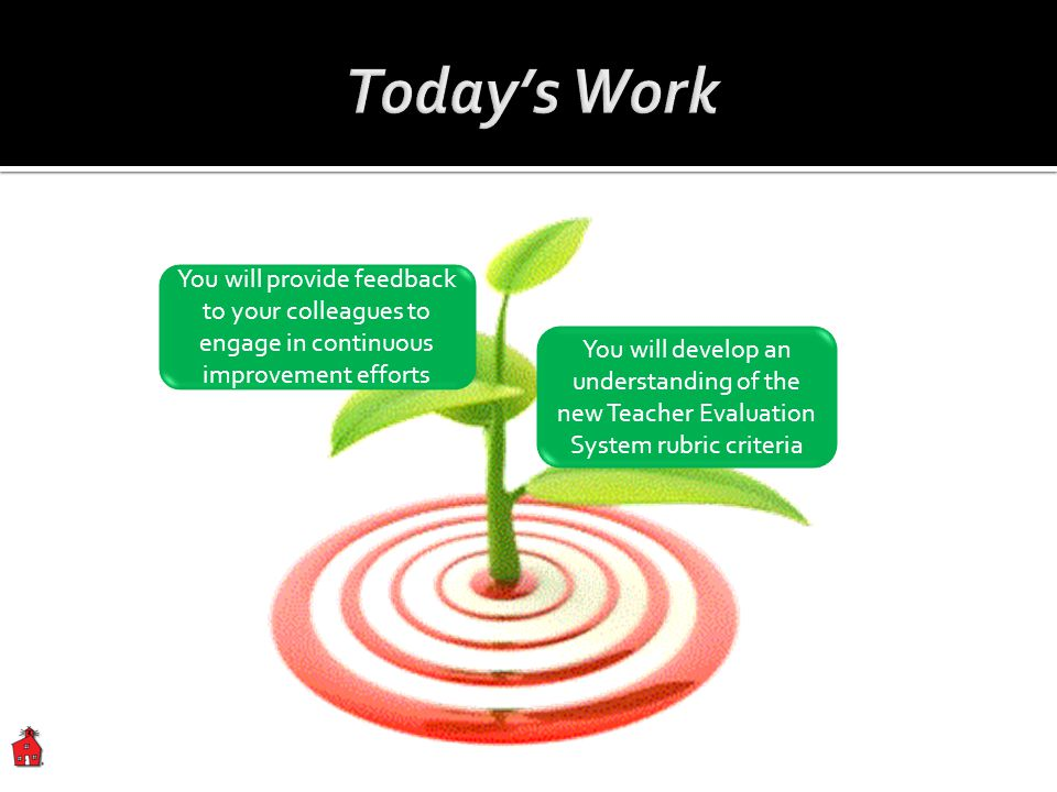 Today's Work You will provide feedback to your colleagues to engage in continuous improvement efforts.