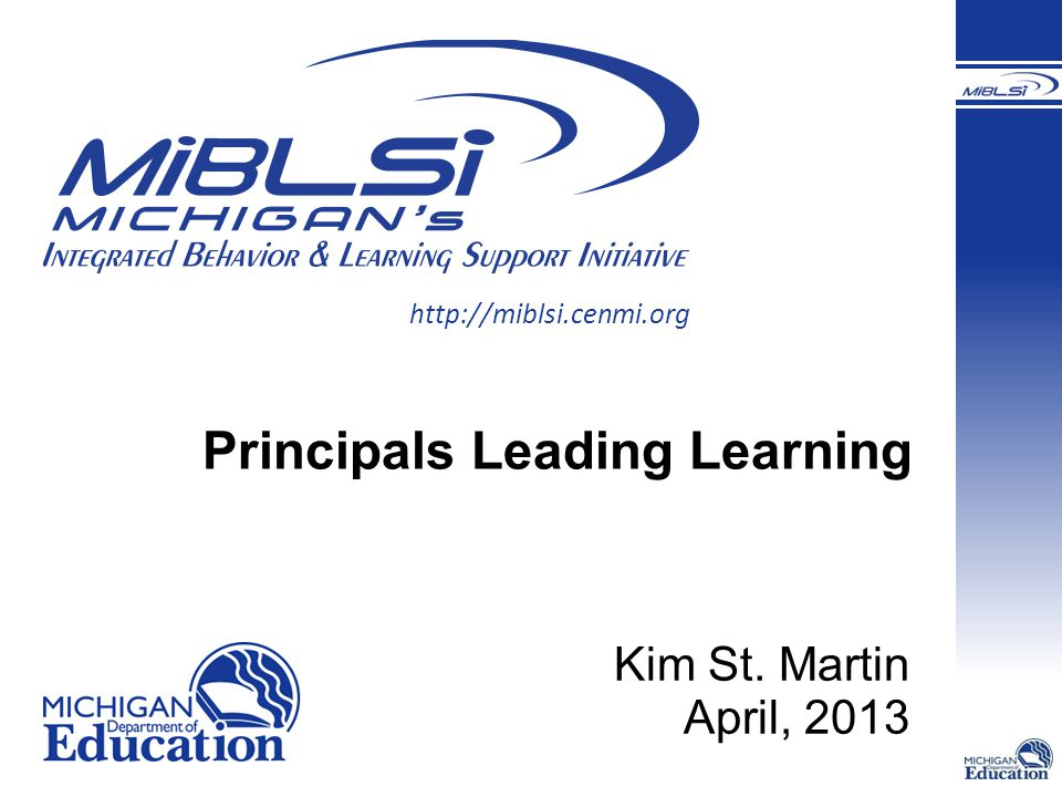 Principals Leading Learning