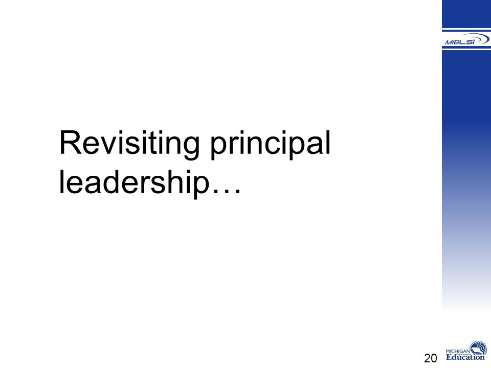 Revisiting principal leadership…
