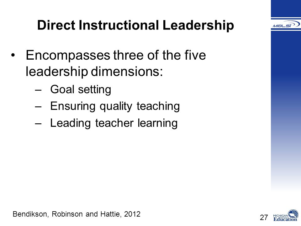 Direct Instructional Leadership