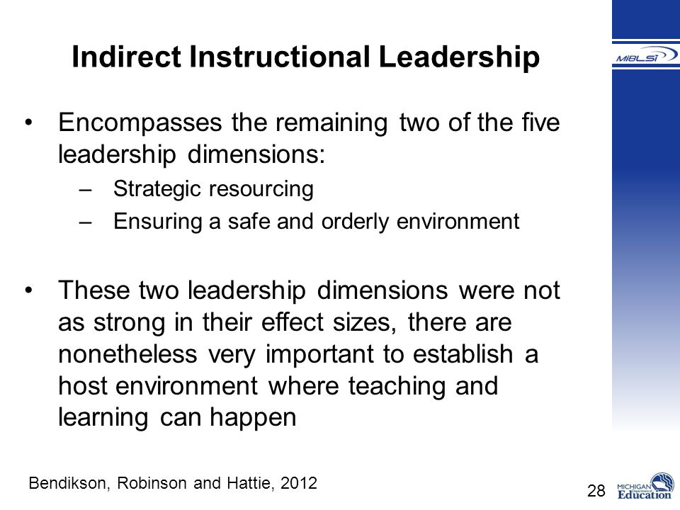 Indirect Instructional Leadership