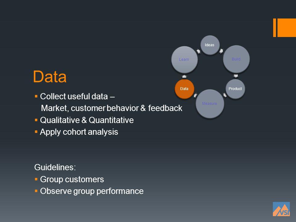 Data Collect useful data – Market, customer behavior & feedback