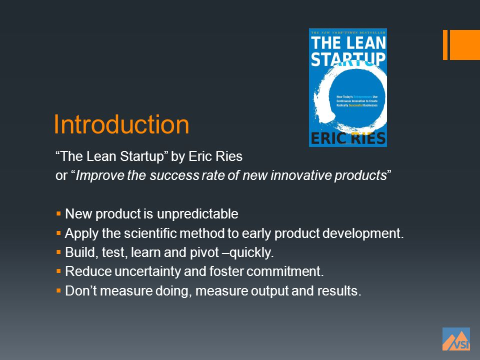 Introduction The Lean Startup by Eric Ries