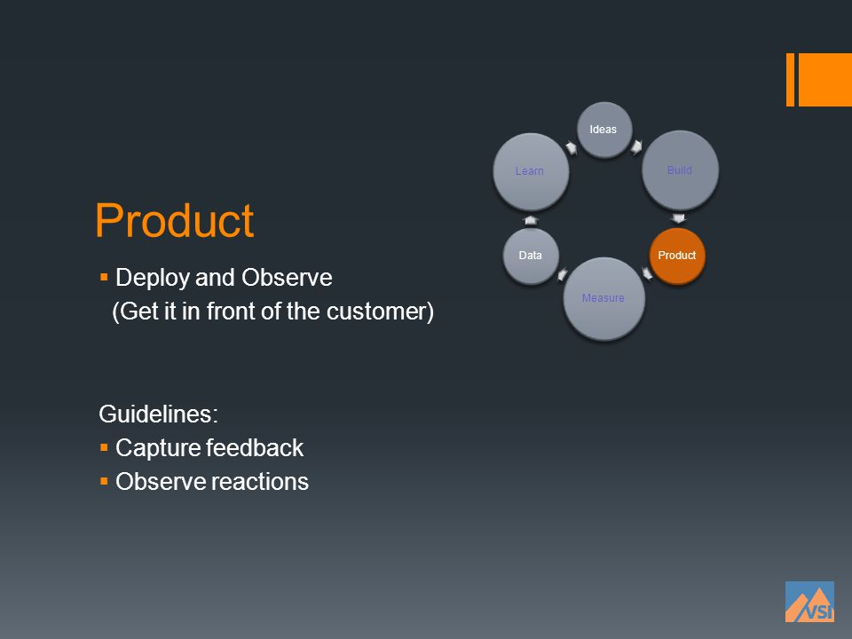 Product Deploy and Observe (Get it in front of the customer)